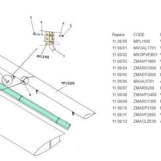 MPL1100 VOILURE VOLET-AILERON AJUSTAGE SP