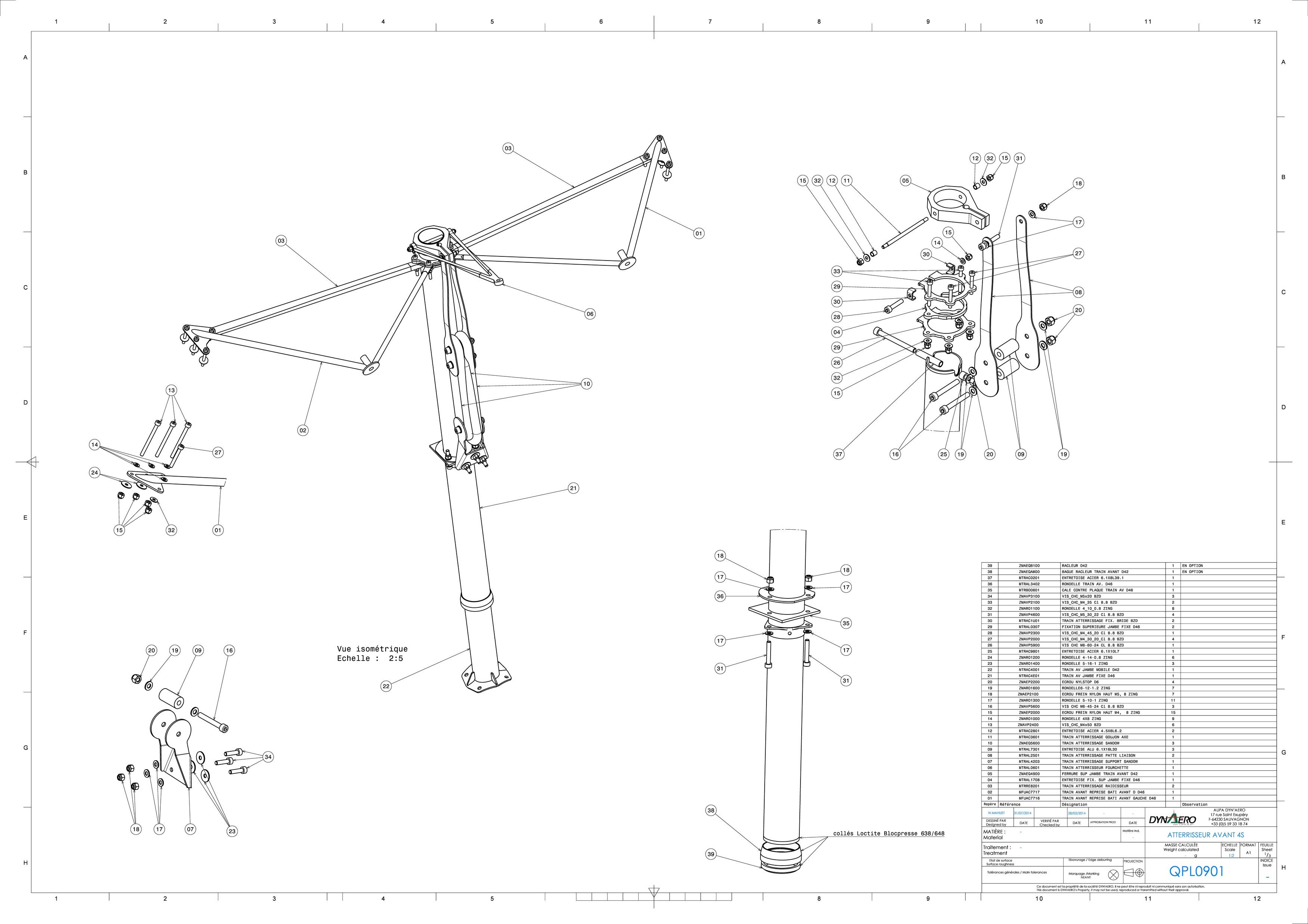 QPL0901 ATTERRISEUR AVANT MCR-4S QS