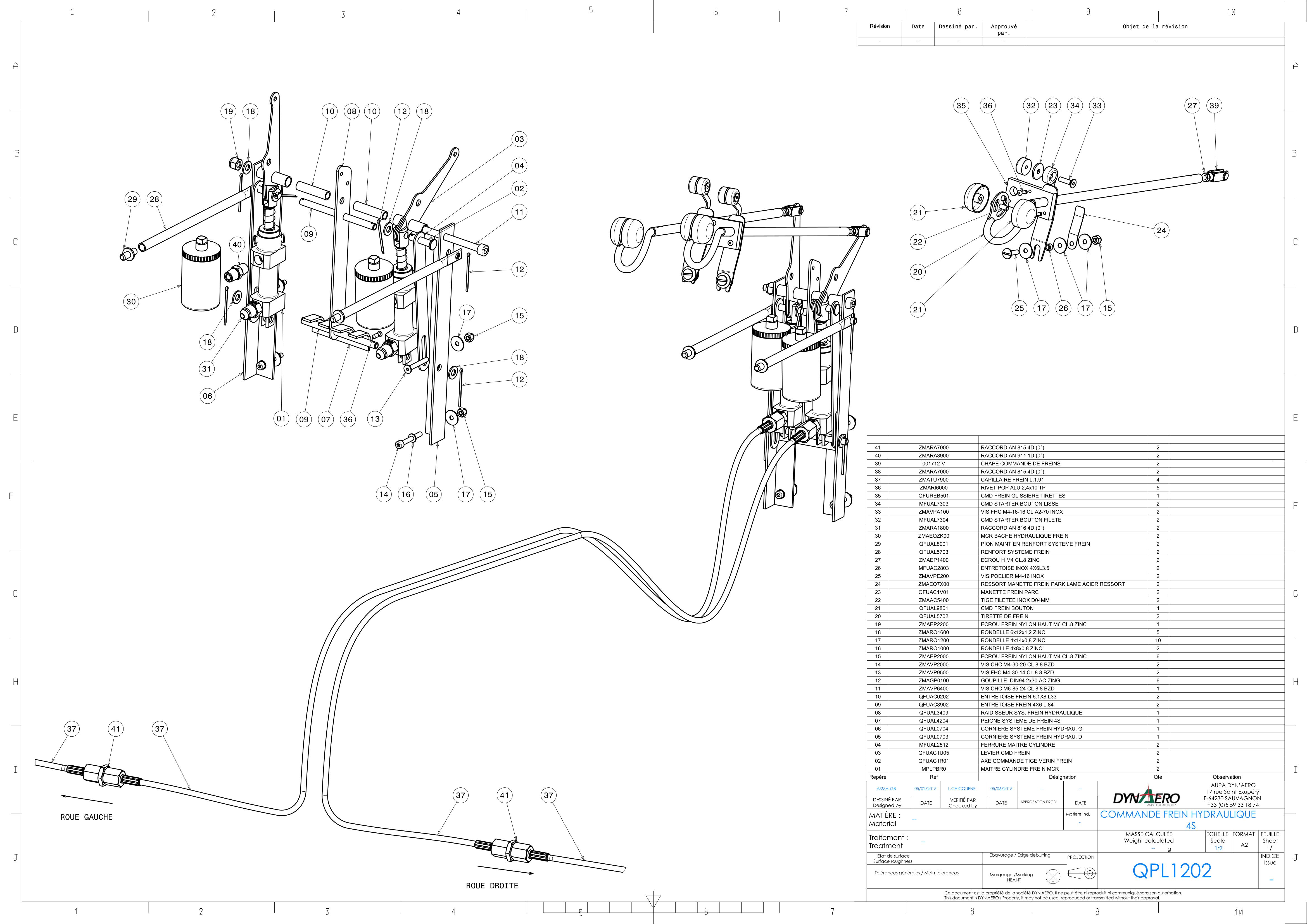 QPL1202 - COMMANDE FREINS HYDRAULIQUES 4S