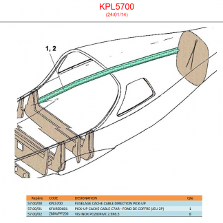KPL5700 - FUSELAGE CACHE CABLE DIRECTION